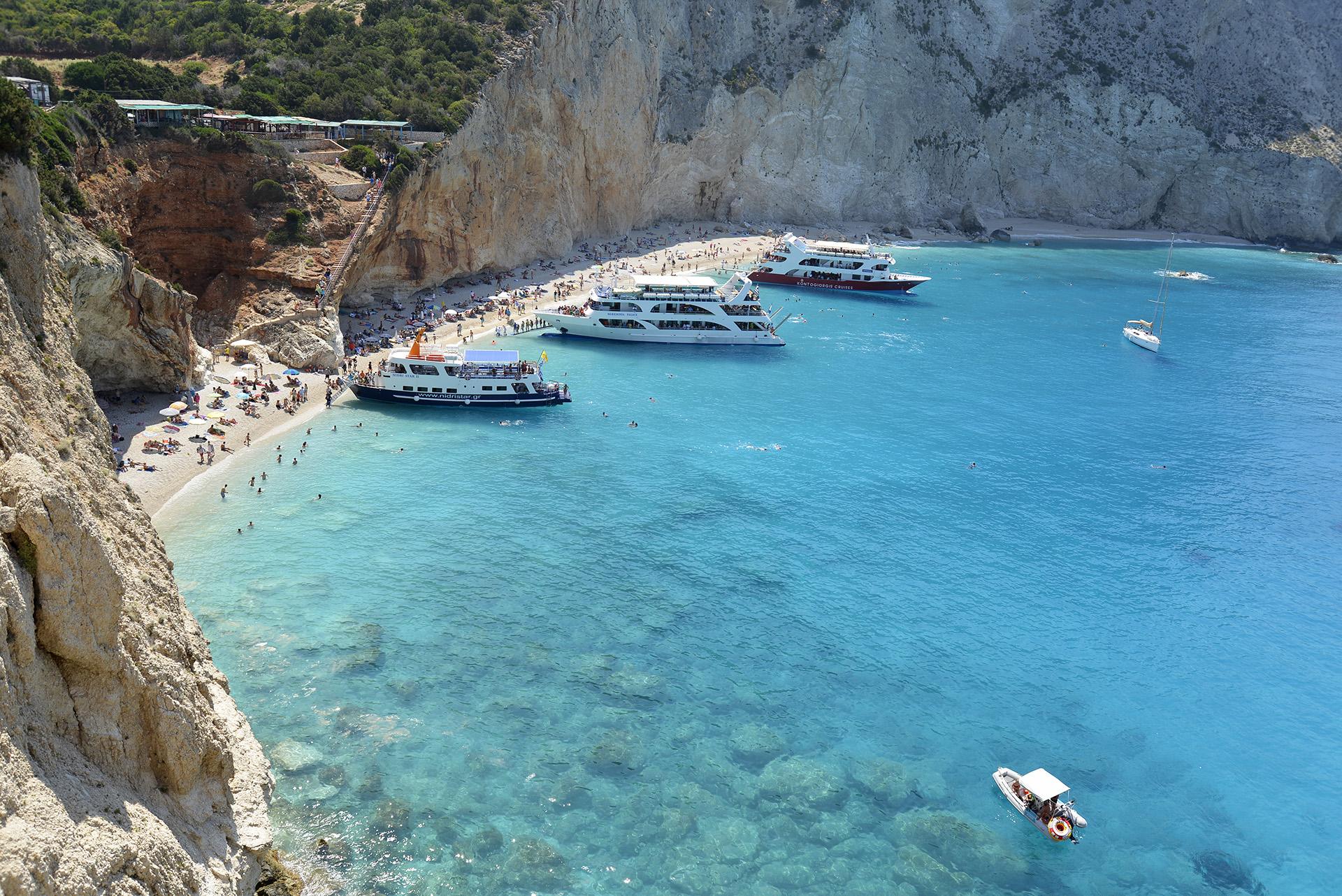 Porto Katsiki Beach Lefkada Island Greece
